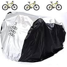 Aiskaer Waterproof Bicycle Cover Outdoor Rain Protector for 3 Bikes-dustproof and Sunscreen.Large Size for 29er Mountain Bike Cover, Electric Bike Cover