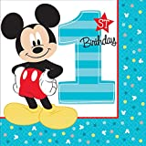 Mickey Mouse 1st Birthday Party Supplies 48 Pack Lunch Napkins