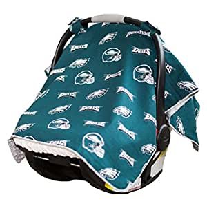 carseat canopy nfl philadelphia eagles baby infant car seat cover baby. Black Bedroom Furniture Sets. Home Design Ideas