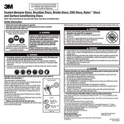 3M(TM) Roloc(TM) Disc 777F TR, 3 in 36 YF-weight, 50 per inner