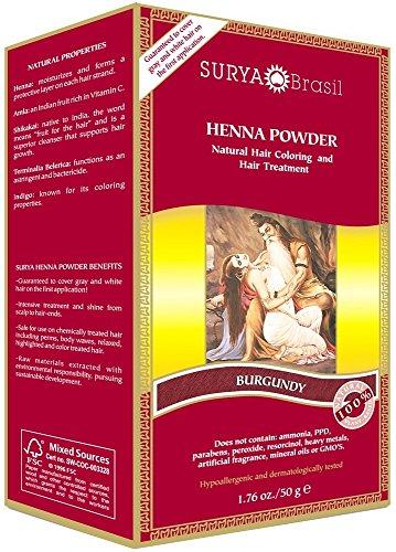 Surya Brasil Henna Powder Burgundy, Pack of (Surya Henna Powder)