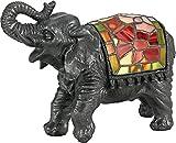 Quoizel TFX839Y Vintage Tiffany 1-Light Elephant Table Lamp