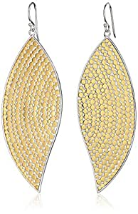 Anna Beck Designs Bali Large Leaf 18k Gold-Plated Earrings