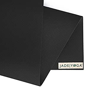 "Jade Harmony 3/16"" 24"" x 68"" Black Yoga Mat"