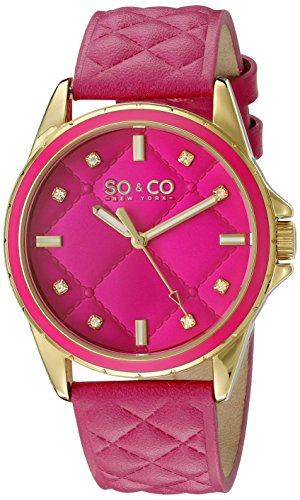 SO&CO New York Womens 5201.2 SoHo Analog Display Quartz Pink Watch