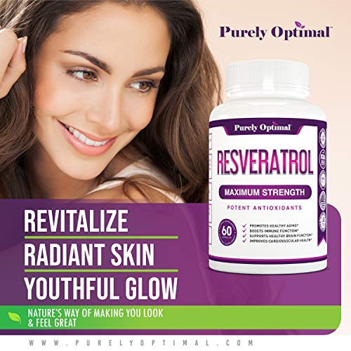 51EL6Kjl7tL - Premium Resveratrol Supplement 1500mg - Max Strength Potent Antioxidant, Trans Resveratrol Capsules for Heart Health, Anti-Aging, Immune Health - with Grape Seed & Green Tea Extract - 30 Days Supply
