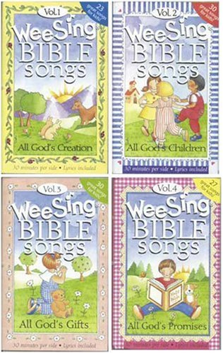 Wee Sing Bible Song Cassettes (4-pk)