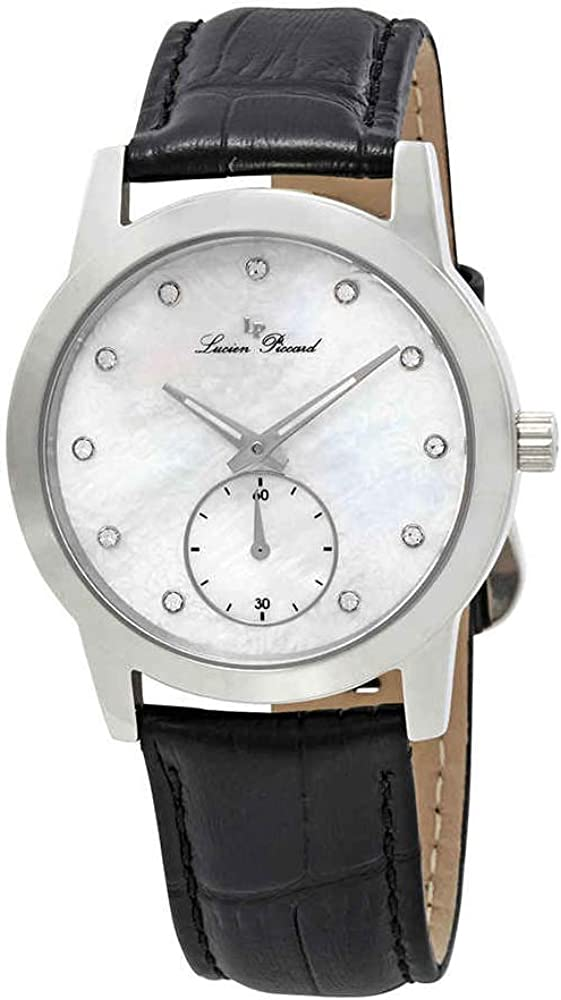 Lucien Piccard Women s LP-40037-02MOP Noureddine Analog Display Quartz Black Watch