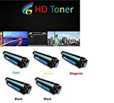 HD Toner © 5-Pack CE260A (2 black), CE261A (1 cyan), CE262A (1 yellow), CE263A (1 Magenta) Color Toner Set for HP Color LaserJet Enterprise CP 4025 CP 4525