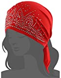 Women's Scarf Pre Tied Chemo Hat Beanie Turban Headwear for Cancer Hair Loss Patients