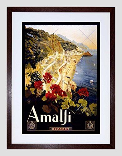 TRAVEL AMALFI COAST BEACH ITALIA ITALY NEW BLACK FRAMED ART PRINT ()