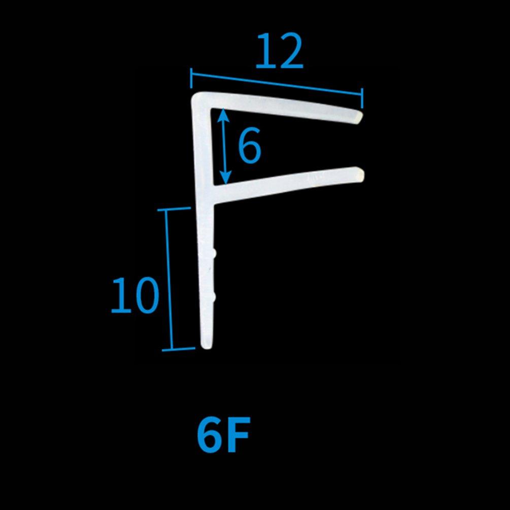 Lvguang Bain Douche /écran Joint de Porte pour Verre Imperm/éable /à leau Isolement du Bruit du Passage Forme de F Large c/ôt/é 100 * 0.6cm