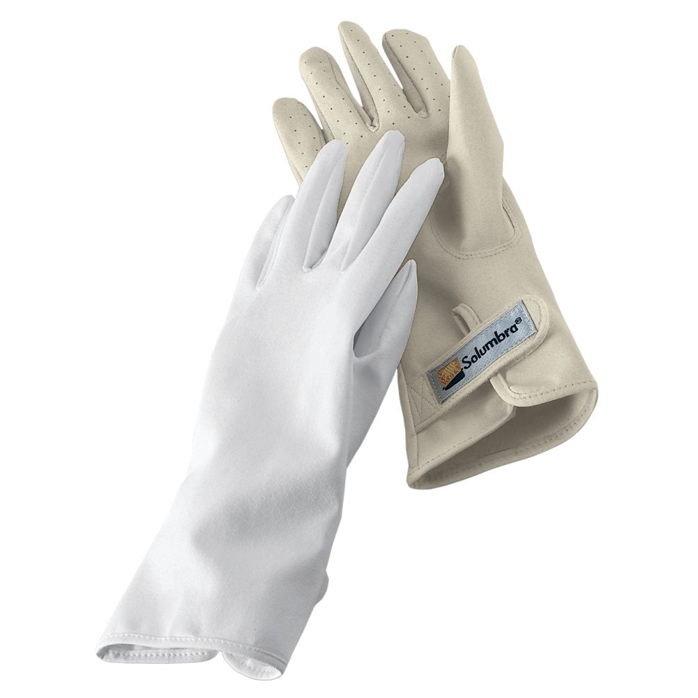 Solumbra Gloves - 100+ SPF Sun Protective (Large, Putty)