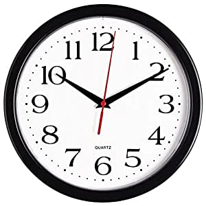 amazon com bernhard products black wall clock silent non ticking