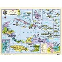 Caribbean Wallmap Paper Edition
