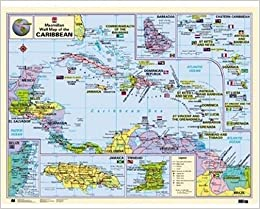 Macmillan Wall Map of the Caribbean (Macmillan Caribbean Wall Maps ...
