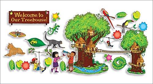Scholastic Teacher's Friend Jungle Treehouse Bulletin Board (TF8042)