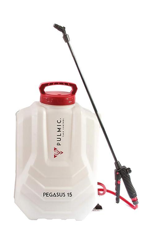 Pulmic Pegasus 15 Pulverizador hidráulico eléctrico, 15 litros, Blanco y Rojo, 29x12x5 cm