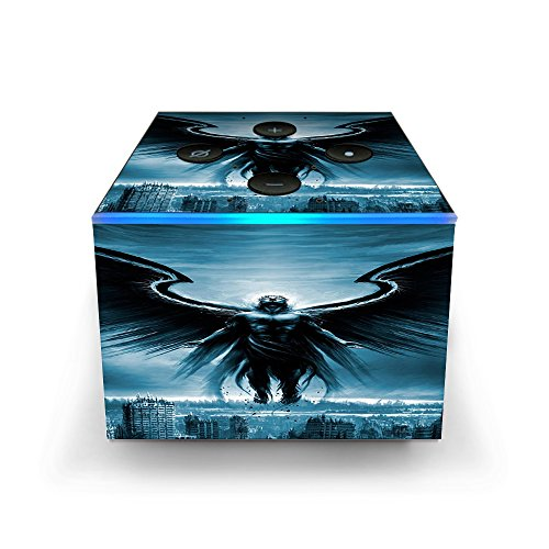 - Skin Decal Vinyl Wrap for Amazon Fire TV Cube & Remote Alexa Stickers Skins Cover/Dark Angel Wings Over City