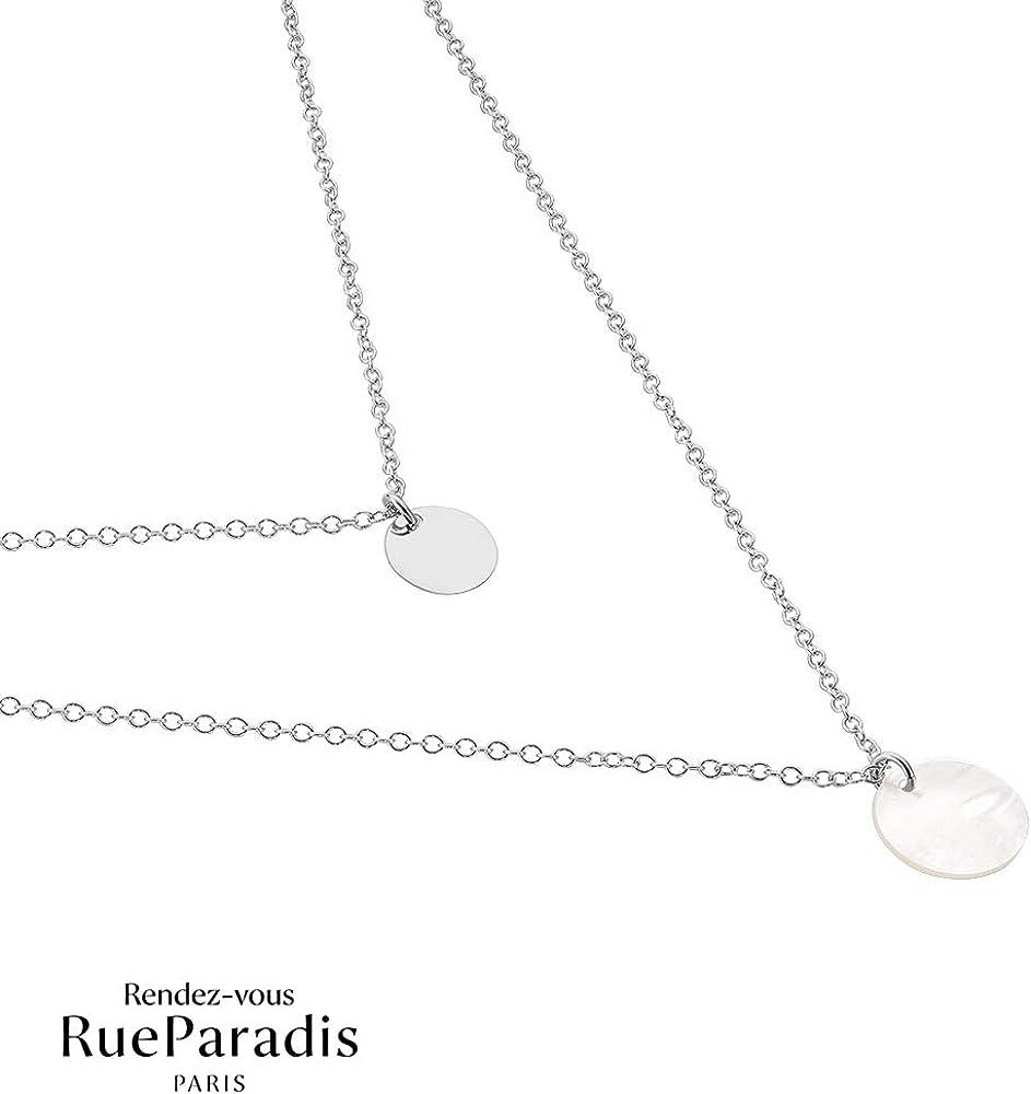 Rendez-vous RueParadis Paris Colliers Multi-Rangs Saint-Valentin Argent 925 Sterling//Massif Diff/érents Motifs Soldes Bijou Femme