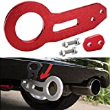 towing hook rsx - New Tow Hook Set Rear Bumper Towing Anodized Billet Cnc Aluminum Universal (Red)