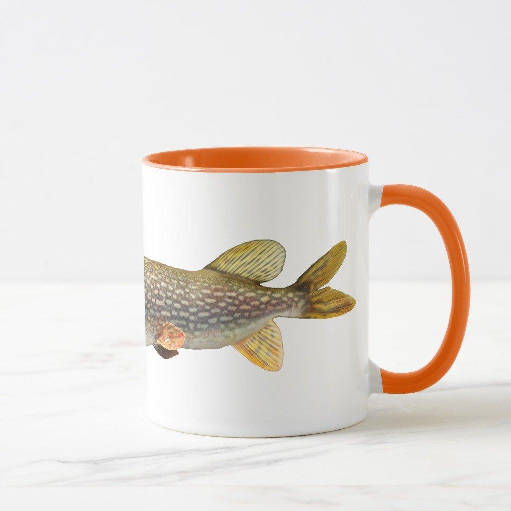 Zazzle Pike MUSKI釣りコーヒーマグ 11 oz, Combo Mug オレンジ c06f3f65-5545-0396-a770-50c326b64c8e B0788D7492  オレンジ 11 oz, Combo Mug