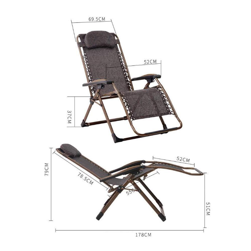 Amazon.com: QQXX CJC Sun Lounger Recliner Foldable Steel ...