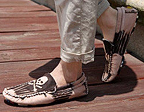 Popuus Herenmode Canvas Schoenen Instappers Bruin