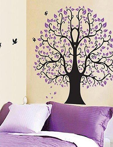 Arti Sue Creatable Eforlife Dibujos Animados Lila árbol Con Pájaros