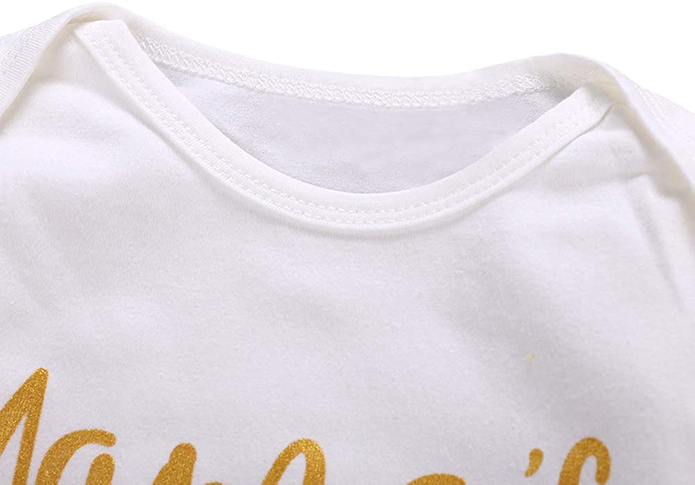 SCFEL Unisex Neugeborene Kleidung Baby Jungen M/ädchen Brief Print Strampler Regenbogen Lange Hosen Herbst Winter Outfits Set