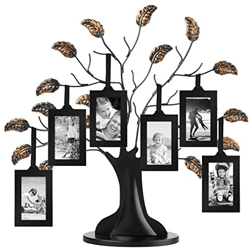 Americanflat Bronze Family Tree Frame with 6 Hanging Picture Frames Each Sized 2