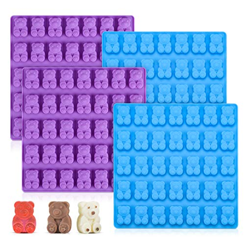 - Candy Molds Silicone Gummy Bear Molds - 1 Inch Cute Bear Chocolate Molds Food Grade Silicone Molds 4 Pack