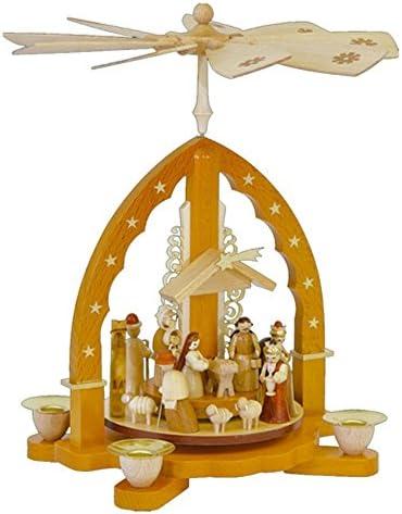 Alexander Taron 16033 Richard Glaesser Pyramid-Nativity Scene-10.5 H W x 9.25 , Brown