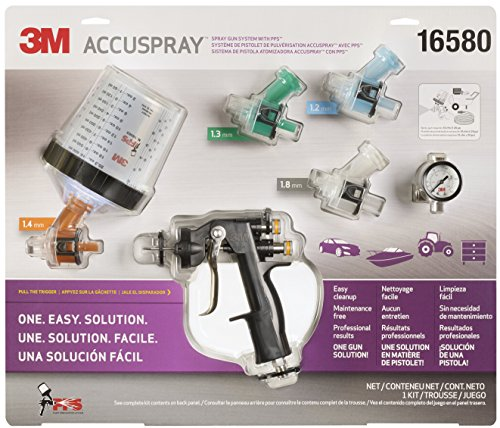 3M 16580 Accuspray Spray Gun System with Standard PPS (Best Spray Gun For Gelcoat)