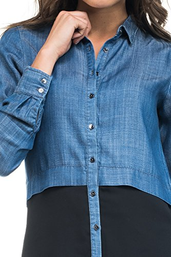 Camicia Blau Blau Camicia Blau Donna Salsa Donna Camicia Donna Donna Salsa Camicia Salsa Salsa npqUgHwp
