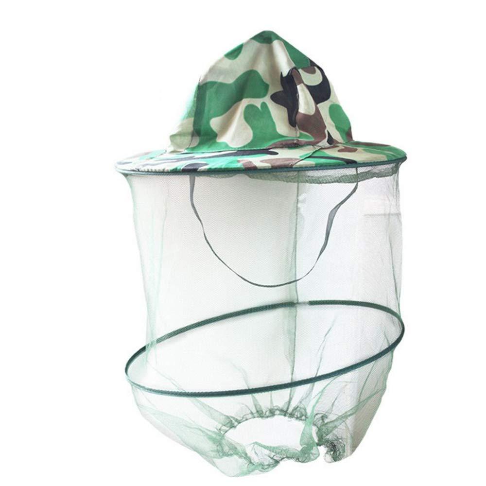 BDFA 3Pcs Tarnung Im Freien Anti-Moskito-Maske Hut mit Kopf Net Mesh Gesicht Für Camping, Wandern, Reisen, Angeln