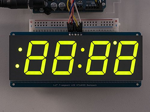 green 7 segment display - 2