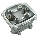 Glixal ATMT1-021 GY6 125cc 150cc to 155cc 58.5mm Performance Cylinder Head Assy with valves for 152QMI 157QMJ Chinese Scooter Moped ATV Go Kart (None EGR Type)