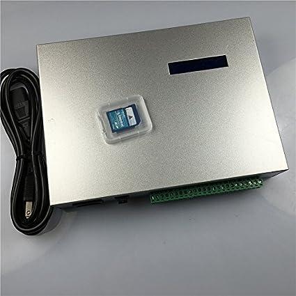 5a85fb42ff9 Led world T-300K SD Card online VIA PC RGB Full color led controller 8 Ports  8192 Pixels