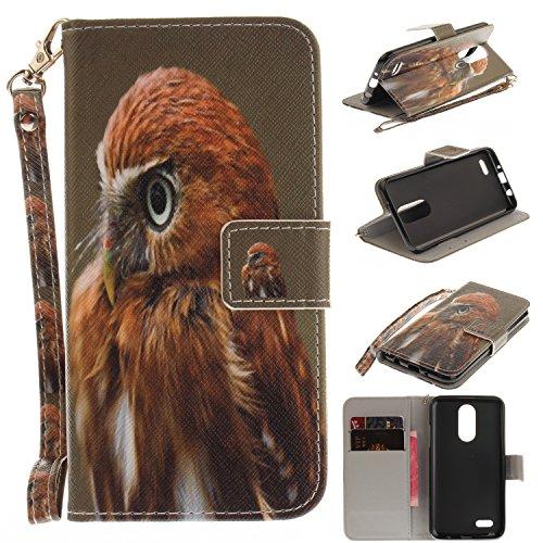 Para LG K8 funda, (tigre siberiano) caja del teléfono de la PU patrón en pintado ,Función de Soporte Billetera con Tapa para Tarjetas correa de mano soporte para teléfono águila
