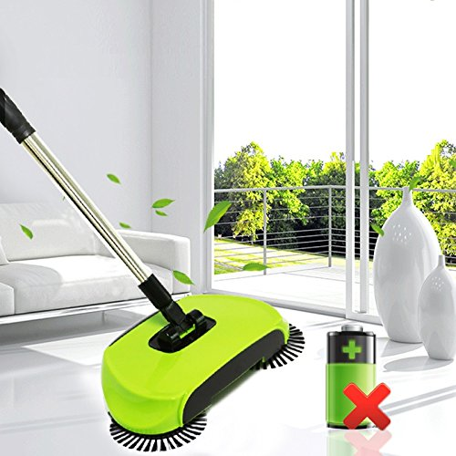 BPG Spin Broom/Sweeper, As Seen on TV.Lightweight Cordless Spinning Broom for Sweeping Hard Surfaces Like Wood, Tiles and Concrete. 3-in-1 Non-Electricity Lazy Push Dust Collector. (Random Color) by BPG (Image #2)