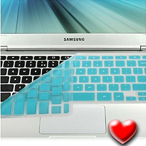 Casiii (R) Samsung Turquoise Blue Silicon Chromebook Keyboard Cover (Us Layout) For- Samsung ARM 11.6 Chromebook Series 3 Xe303c12 (Do Not Fit for Samsung Chromebook 2) - Chromebook Accessories Skin