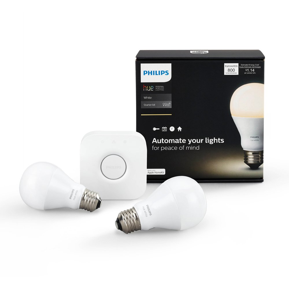 Philips Hue White A19 Starter Kit Compatible With Amazon Alexa Fluorescent Lamp Lights Apple Home And Google Assistant Tools Improvement Canada