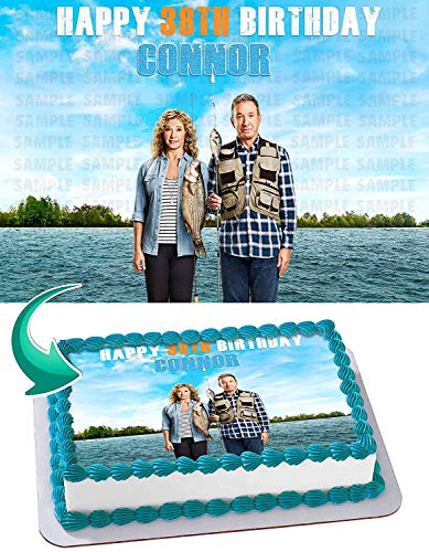 Last Man Standing Edible Cake Image Topper Personalized Birthday 1/2 Sheet Custom Sheet Party Birthday Sugar Frosting Transfer Fondant Image ~ Best Quality Edible Image for cake