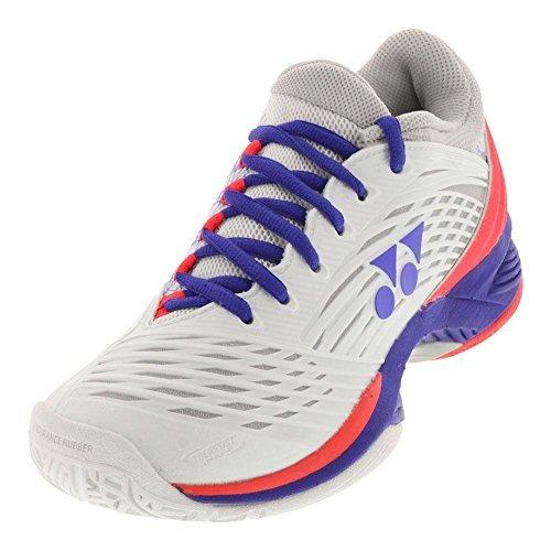 Yonex Women`s Power Cushion Fusionrev 2 Tennis Shoes White and Purple-(008235284