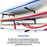 EasyGoProducts EGP-SURF-006 SUP and Surf 3 Level Wall Storage for Garage or Room-Paddle Board and Longboard Racks