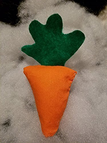 Handmade Catnip Carrot Crinkle Toy Shelter Pack (10 pack) by Cat Toys Right Meow