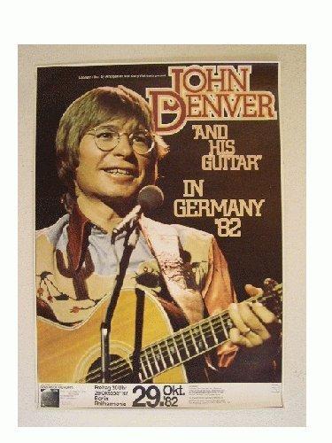 John Denver Poster With His Guitar 1982 Berlin Concert