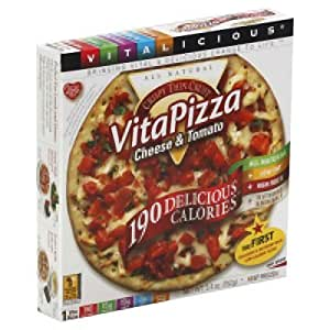 VITALICIOUS Vita Pizza, Cheese Tomato, 5.4 Ounce (Pack of 12)