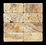 Philadelphia 3 X 6 Travertine Tumbled Brick Tile - Lot of 50 sq. ft.